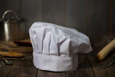 Chef hat on kitchen