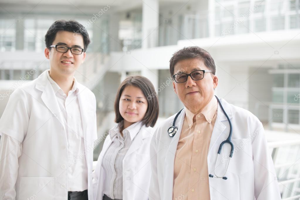 Asian medical team of doctors