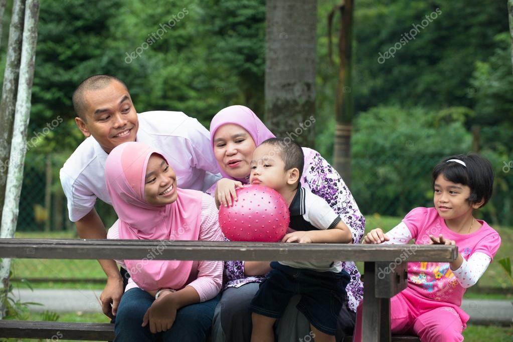 Happy Malay Asian Family