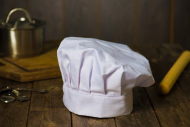 Chef hat with kitchen settings