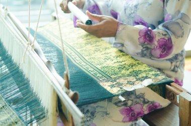 Traditional batik cloth making
