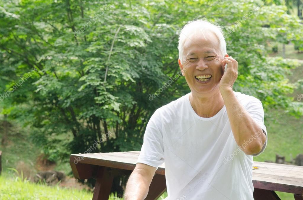 Healthy senior Asian man