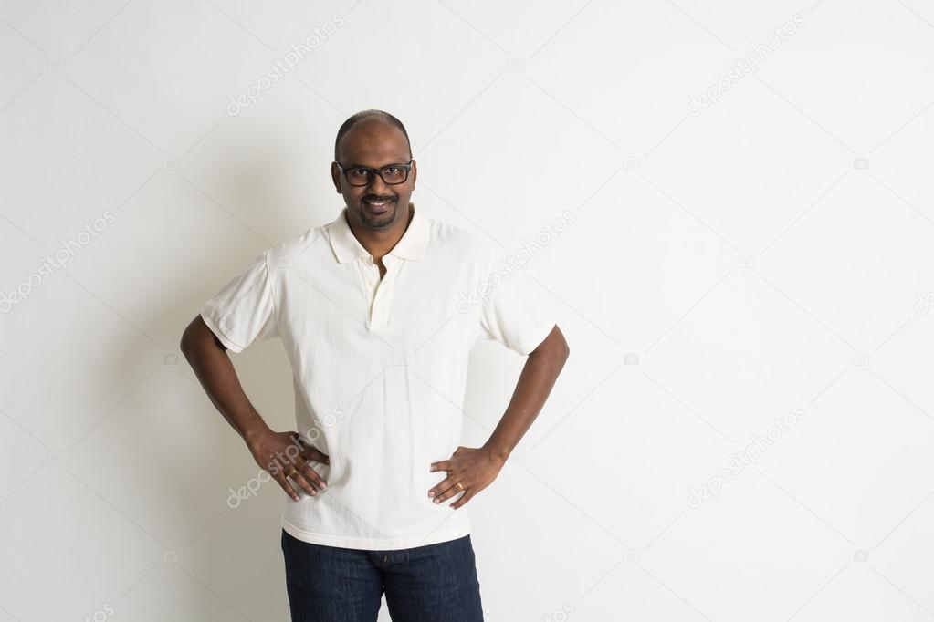 Very mature indian with glasses tell