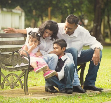 Indian family  at park