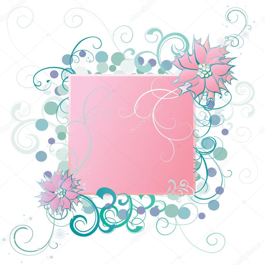 Vector flor marco tarjeta o invitación — Archivo Imágenes ...