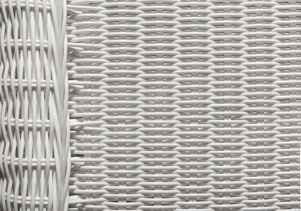 Textura de cesta tejer patrón, Fondo de mimbre blanco — Fotos de ...