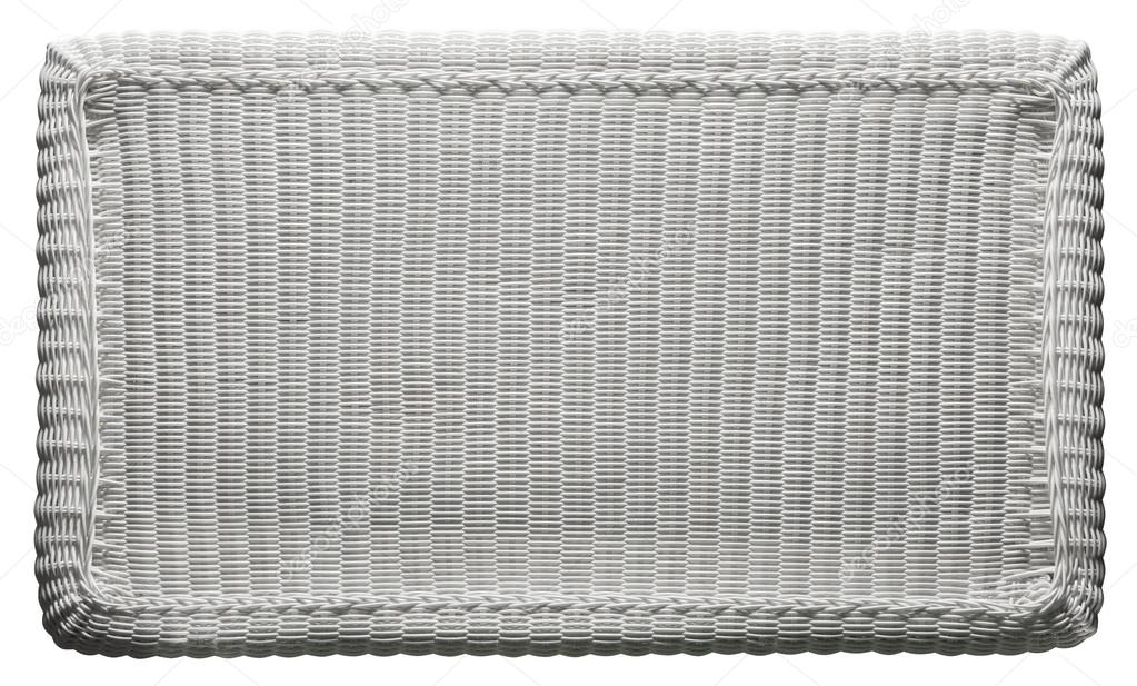 Textura de cesta tejer patrón, mesa de mimbre blanco — Foto de stock ...