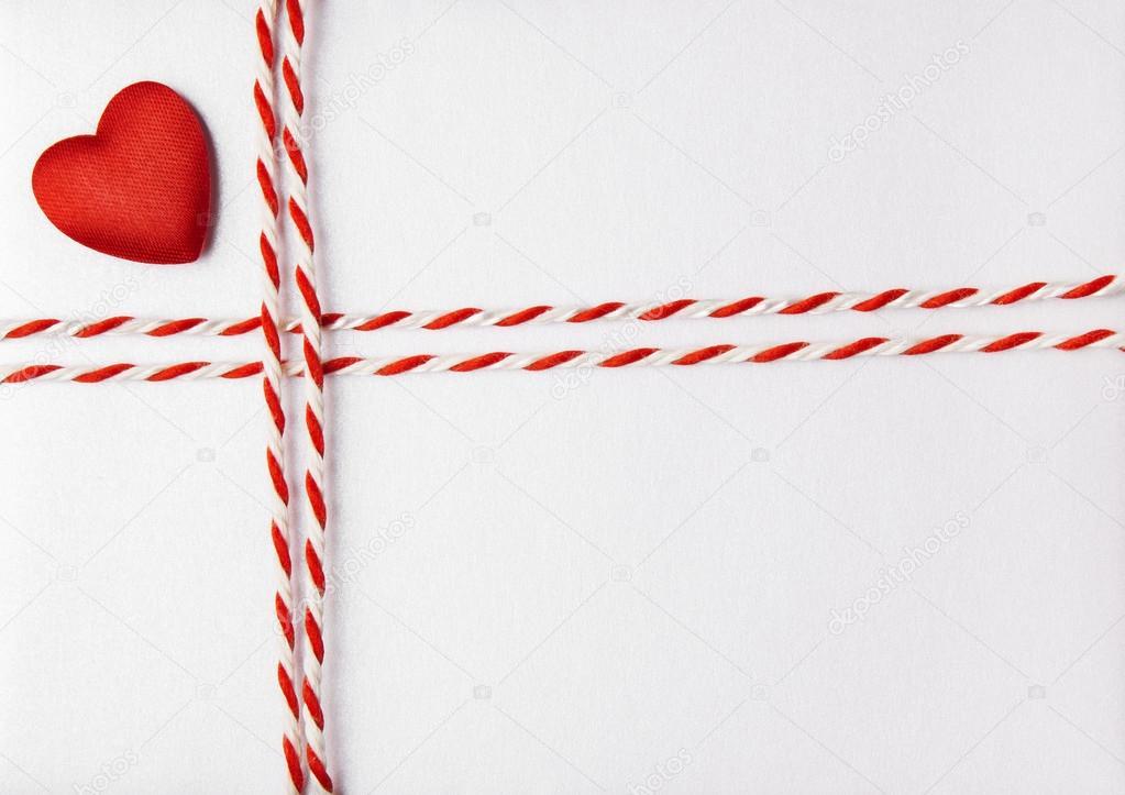 Red Heart Valentine Day Background, Wedding Invitation Card Envelope ...
