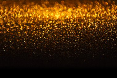Lights Background, Abstract Gold Blur Holiday Light, Christmas Bokeh