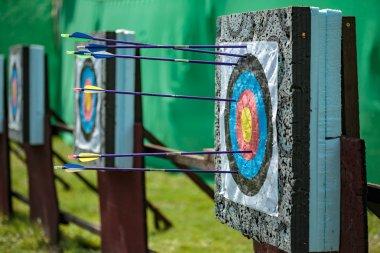 Targets at a bow shooting range