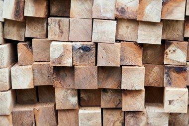Construction timber logs