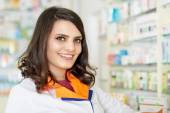 Closeup of a woman pharmacist