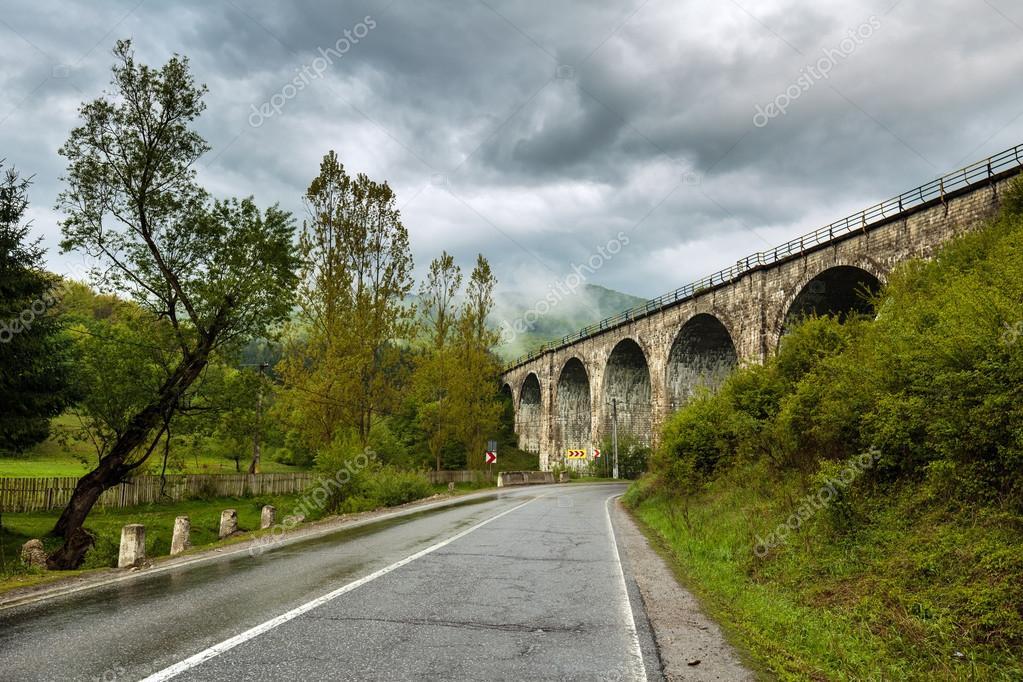 Road going beneath an overpass