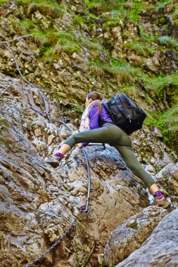Young lady climber