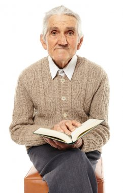Old man with a book