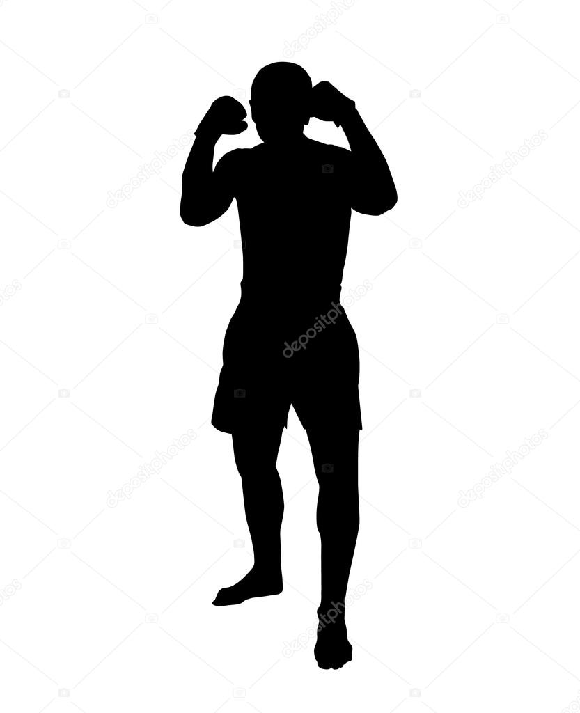 Картинка боксера для силуэта