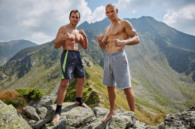 fighters training in the mountains