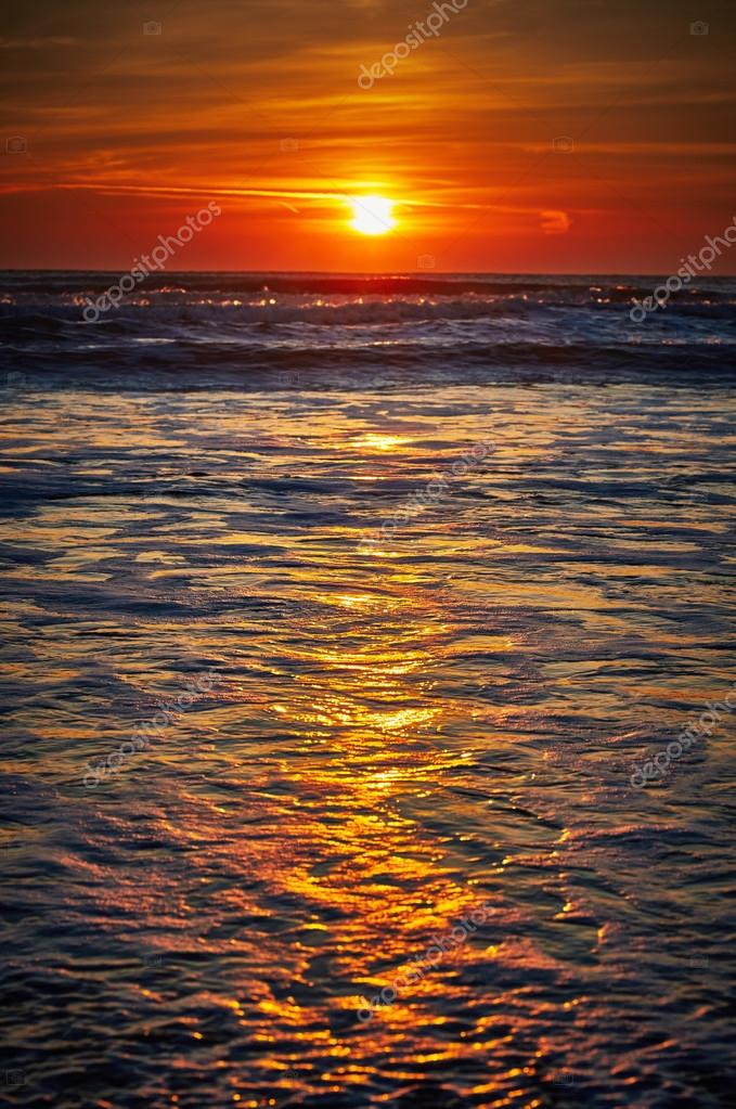 Colorful sunrise over the sea
