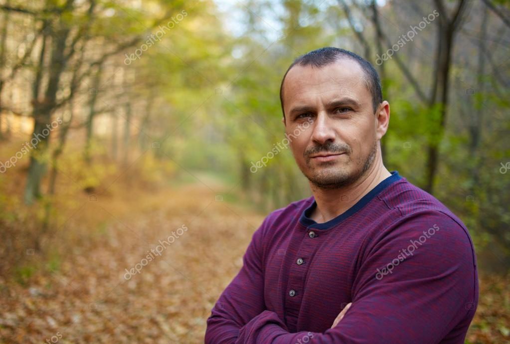 Handsome caucasian man in his 40s