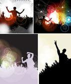 Fényképek zene fél illusztráció