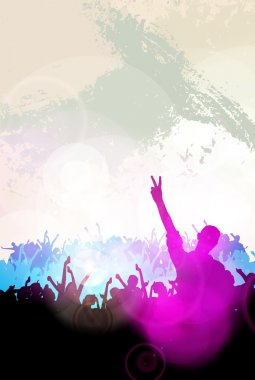 Clubbing party holiday background