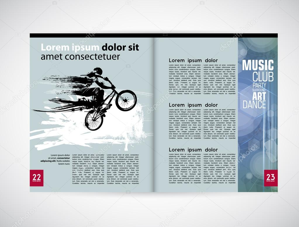 Plantilla de revista de diseño gráfico — Archivo Imágenes ...