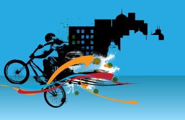 illustration of bmx rider