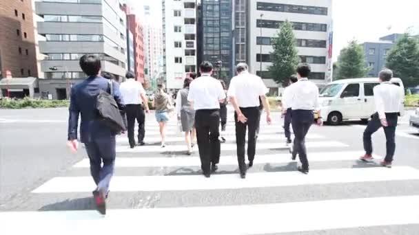 People crossing road in Tokyo