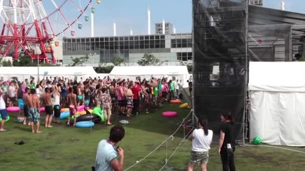 People dancing near the stage