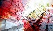 Fotografie 3D vykreslování, futuristické pozadí pro banner