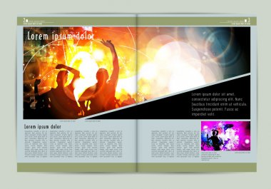 Newspaper template layout illustration