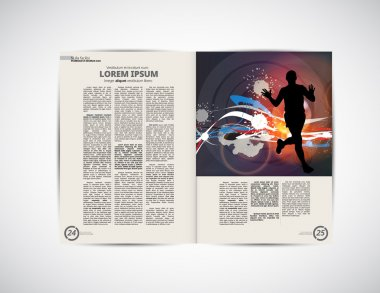 Layout for press magazine