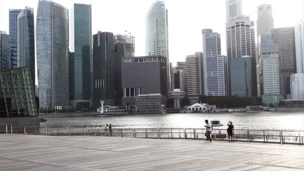 Singapore City across Marina Bay