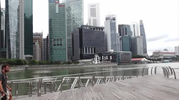 Singapur město přes Marina Bay