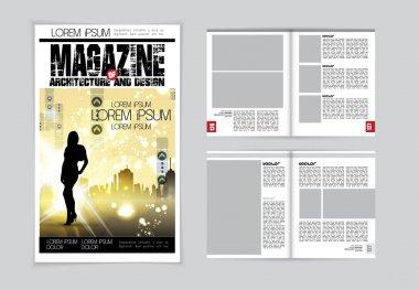 Architecture magazine layout