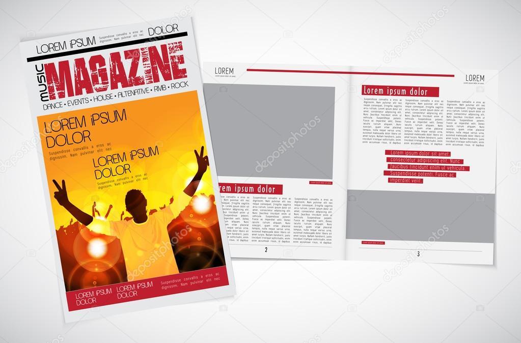 Musical magazine layout