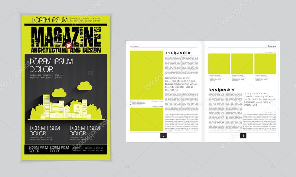 Architektur-Magazin-layout — Stockvektor © zeber2010 #60844813