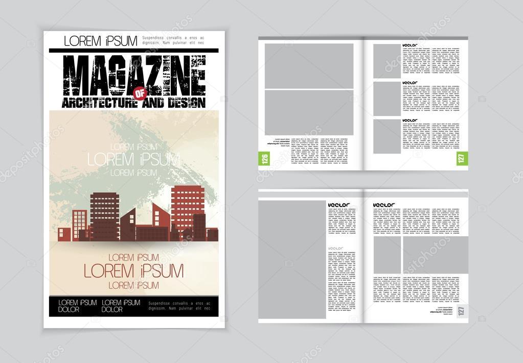 Architektur-Magazin-layout — Stockvektor © zeber2010 #60844971
