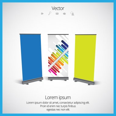 Roll up banner stand design