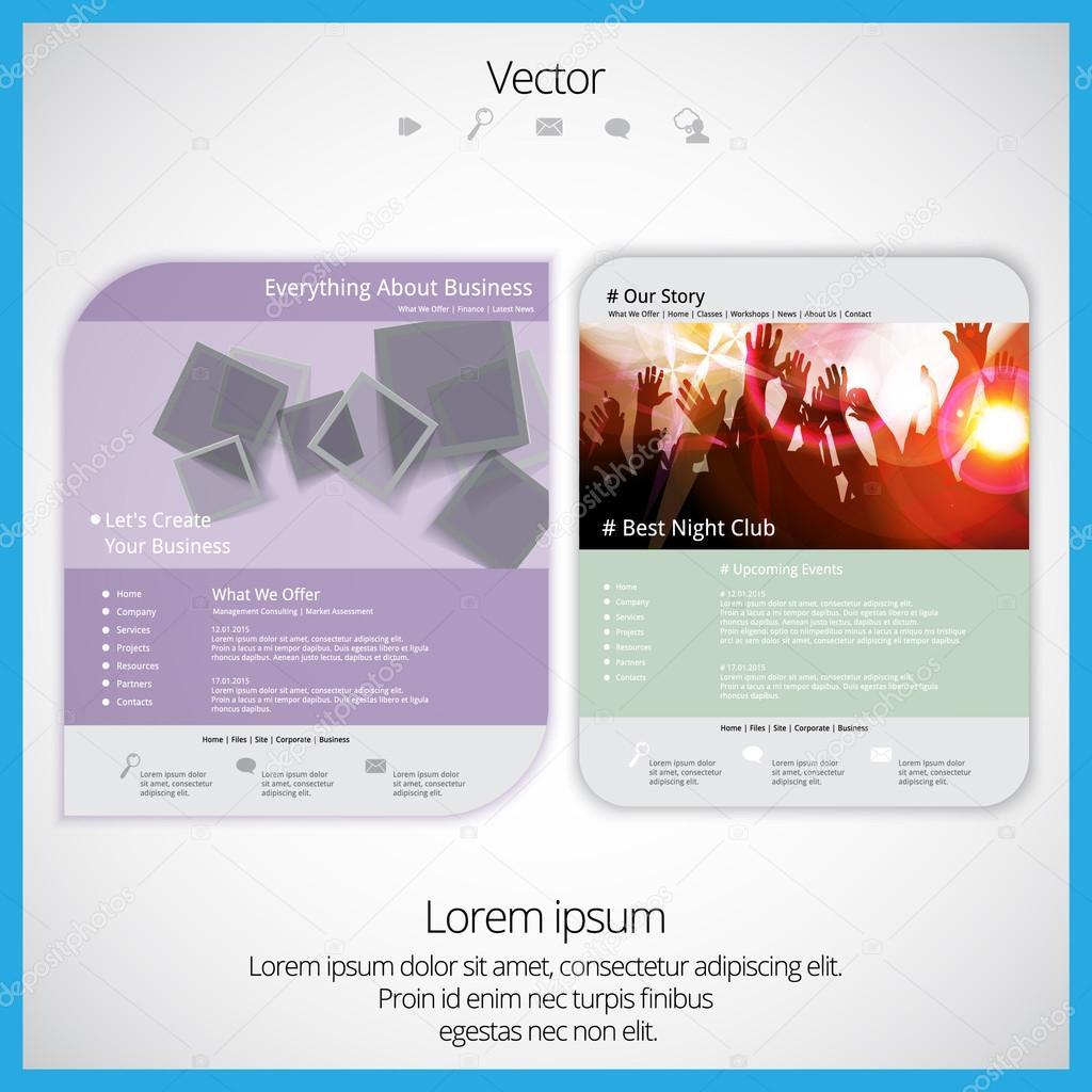 Template For Website Stock Vector Zeber2010 68904479