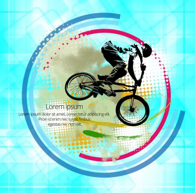 BMX biker illustration