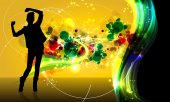 Fotografie Background with dancing girl