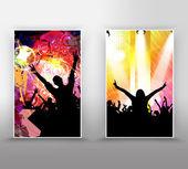 Zenei esemény háttér a plakát vagy transzparens