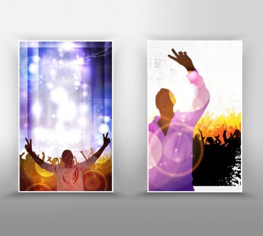 Music event background for poster or banner