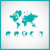 Fényképek világ megjelenítése illusztráció
