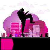 karate ilustrace