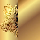 virág díszek arany háttér