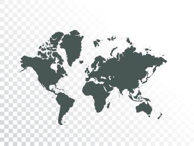 World map illustration stock vector