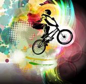 BMX cyklista ilustrace