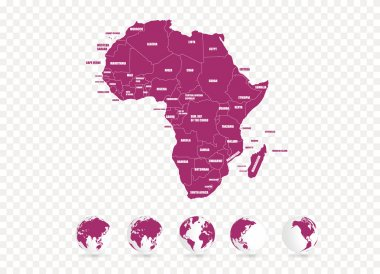 Map of Africa illustration